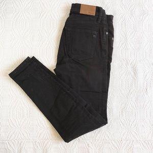 Madewell high rise black skinny jeans